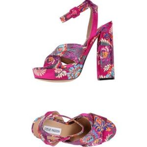 Steve Madden Pink Jodi Sandals Shoes 8.5 NIB